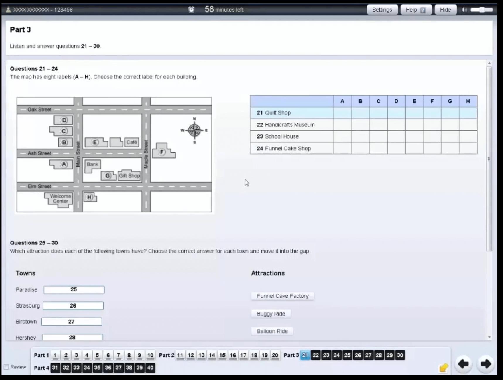 IELTSコンピューター受験 リスニング
