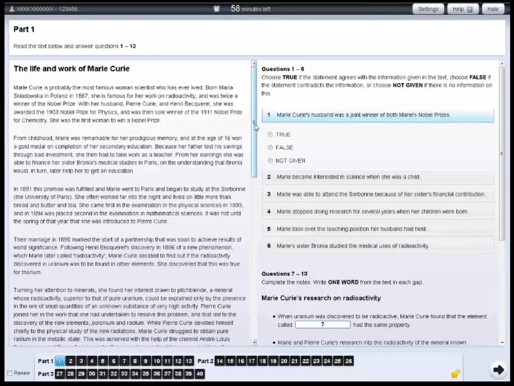 IELTSコンピューター受験 リーディング