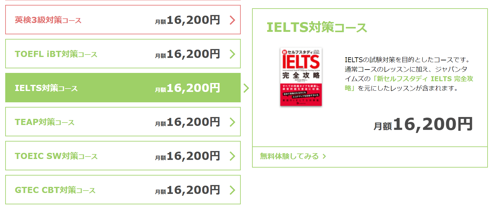 ベストティーチャーのIELTSコース