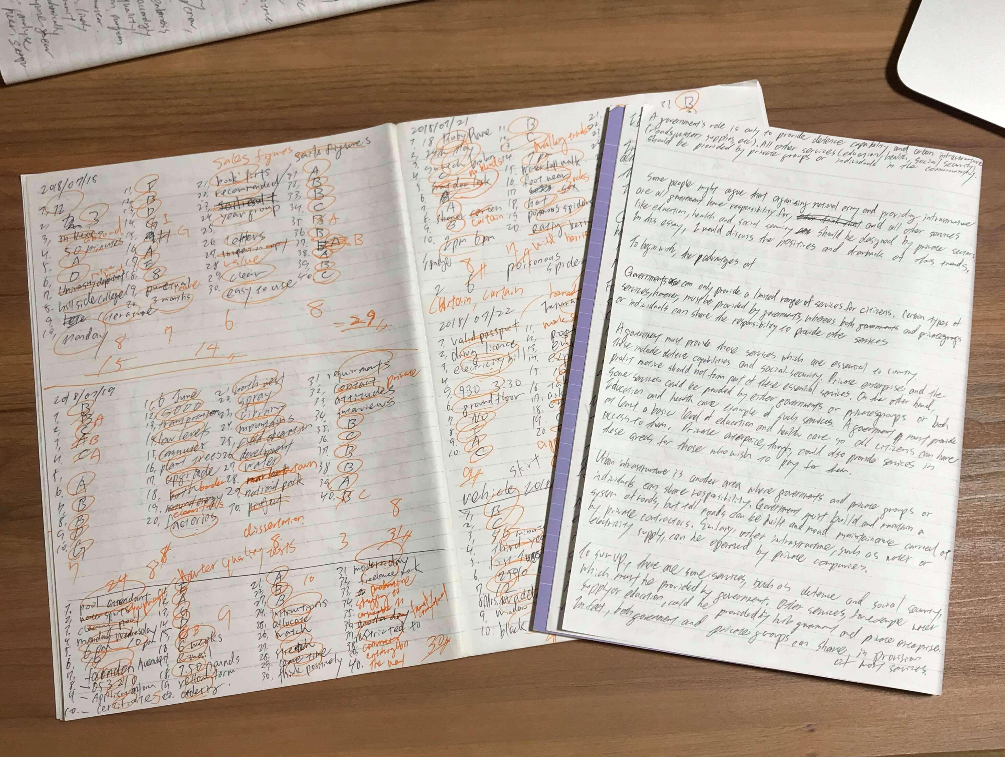 IELTSの勉強用ノート